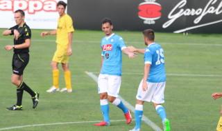 Gabbiadini Napoli partita Dimaro Anaune