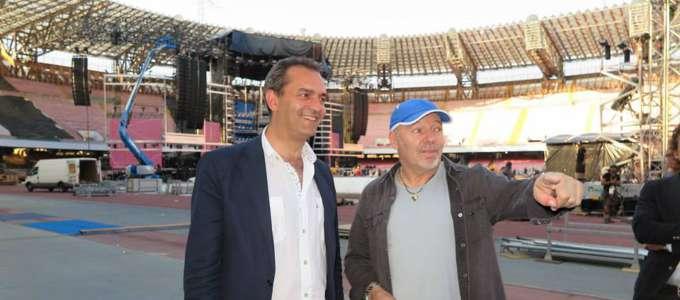 Luigi de Magistris incontra Vasco Rossi al San Paolo