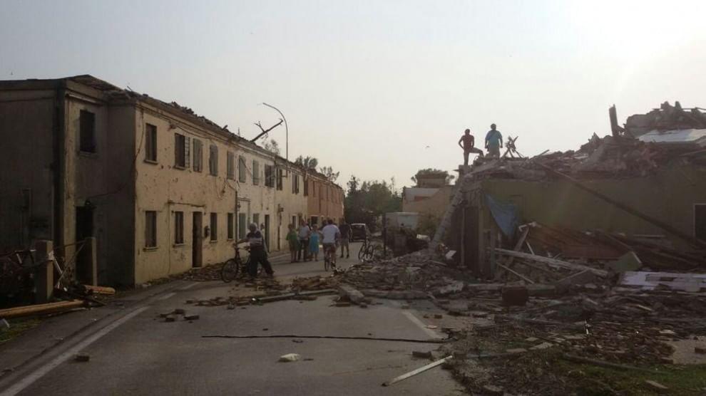 Tromba d'aria in Veneto: due morti e quindici feriti