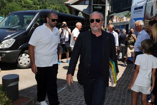arrivo del Napoli a Dimaro