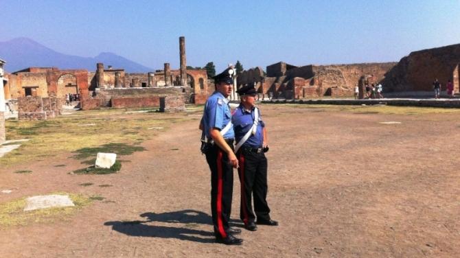 Furto negli Scavi di Pompei: denunciati quattro turisti francesi