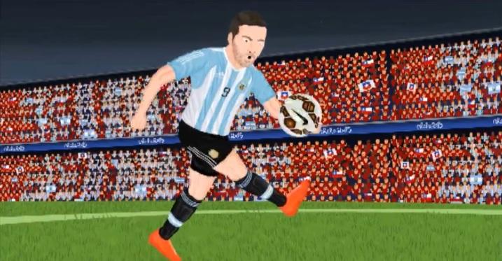 Parodia sul rigore sbagliato da Higuain contro il Cile (video cartoon)
