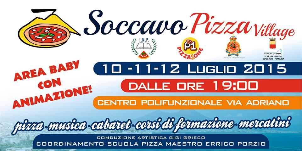 Soccavo Pizza Village dal 10 al 12 luglio presso il centro polifunzionale