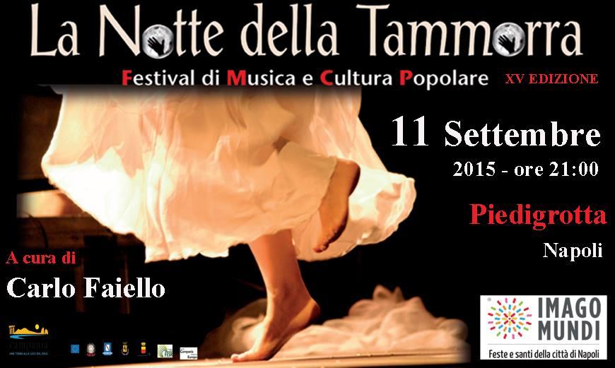 Notte della Tammorra: l'11 settembre torna il Festival di musica e cultura popolare
