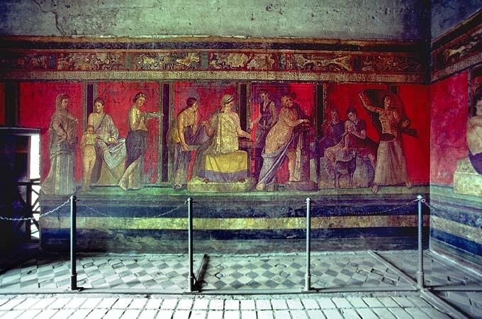 Villa dei misteri: turista francese entra di notte a Pompei, preso