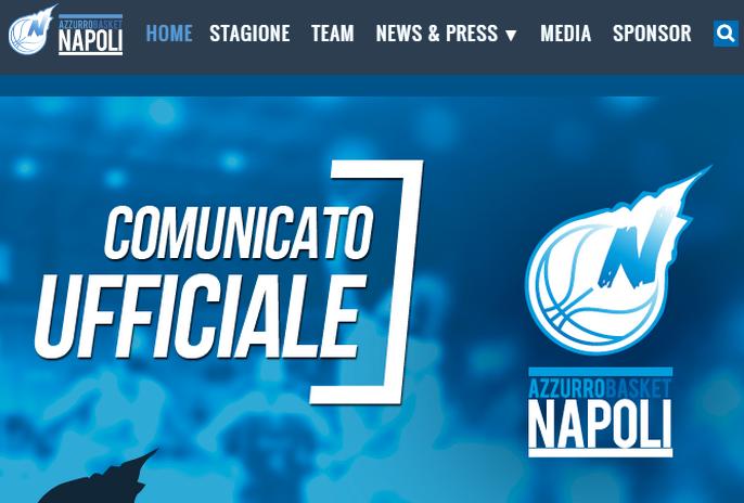 Azzurro Napoli Basket: online il nuovo sito