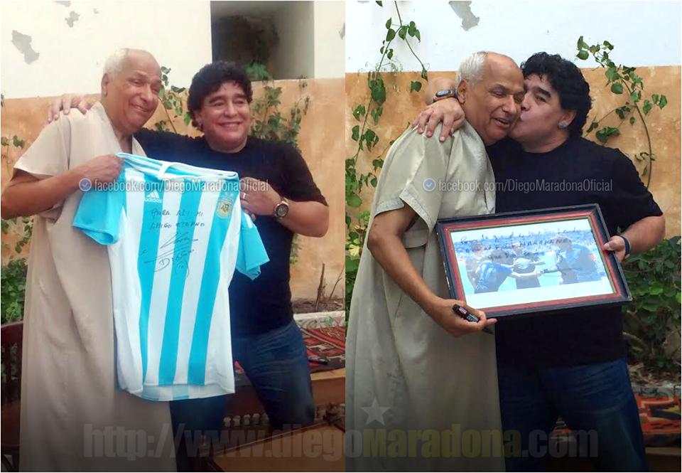 Maradona incontra Bennaceur, l'arbitro della Mano de Dios