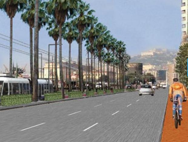 La futura e nuova via Marina avrà una pista ciclabile, alberi e pensile più confortevoli