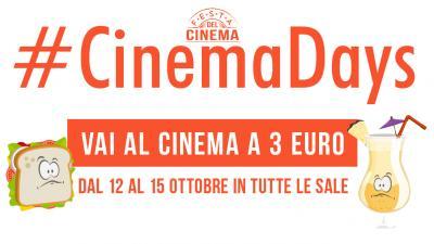 CinemaDays: con la festa del cinema, biglietti a 3 euro in tutta Italia