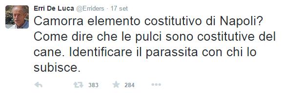 Erri De Luca Tweet