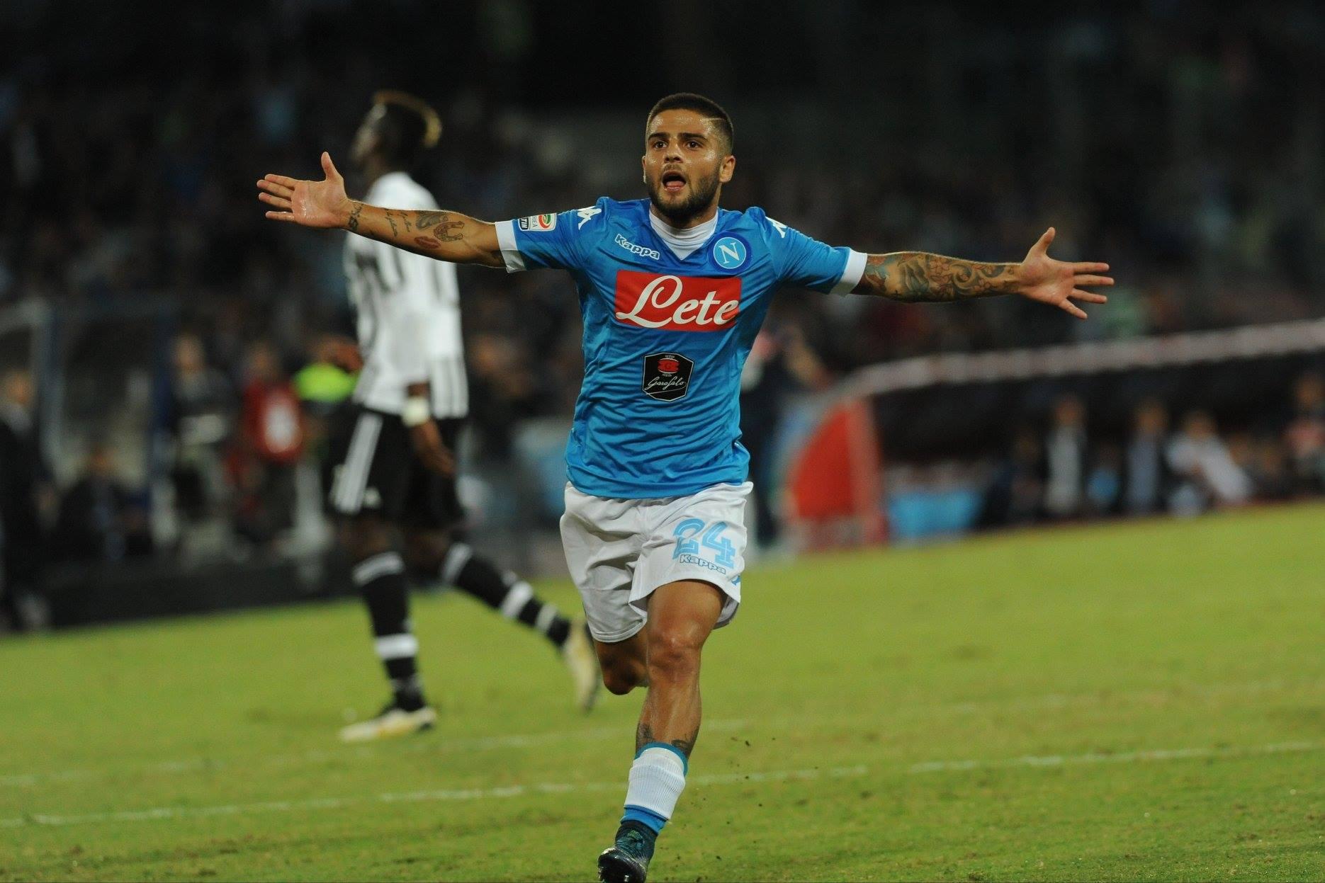 Napoli Juventus Gol di Insigne