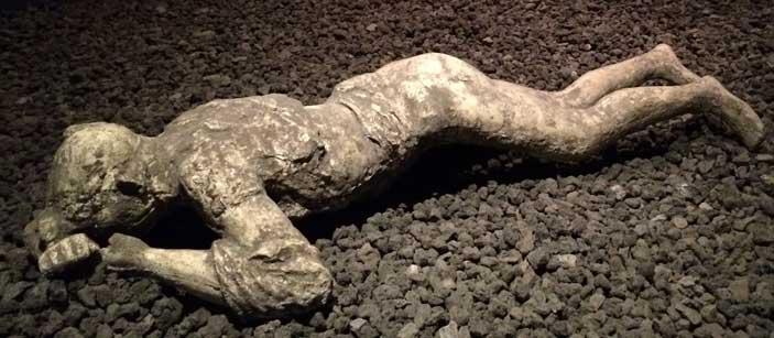 Tac sulle vittime dell'eruzione di Pompei