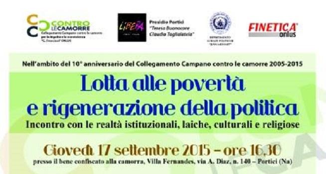 Contro le camorre: 'Lotta alle povertà e rigenerazione della politica' (17/09/2015)