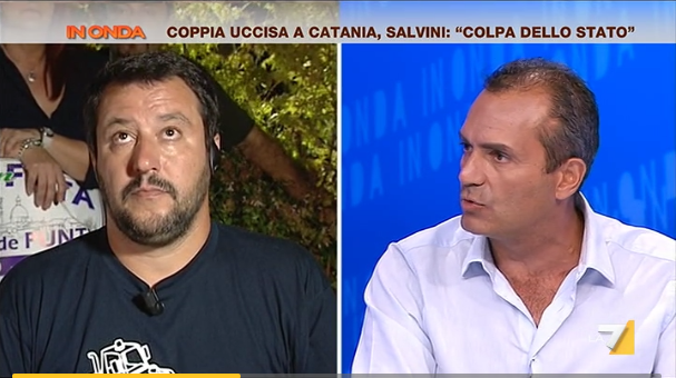 Salvini contro de Magistris: acceso scontro in tv su La7