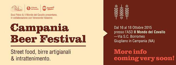 Campania Beer Festival 2015: dal 16 al 18 ottobre con ingresso a 1 euro