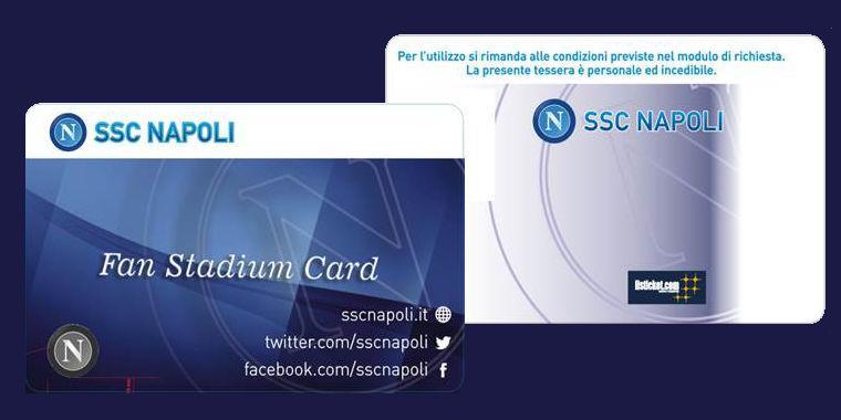 Calcio Napoli, da oggi in vendita la Fan Stadium Card