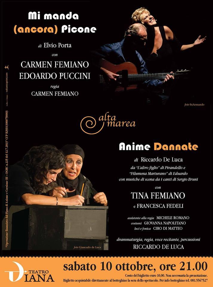 Mi manda (ancora) Picone - Anime dannate: al Teatro Diana sabato 10 ottobre