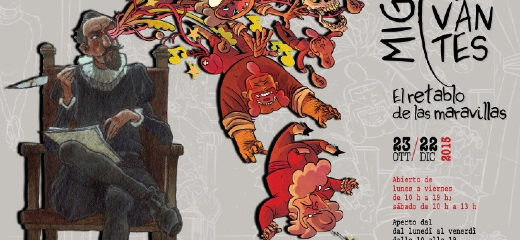 Miguel de Cervantes: la mostra a fumetti che celebra il IV centenario dalla morta dell'autore del Don Chisciotte