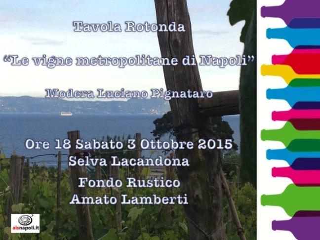 Le Vigne Metropolitane di Napoli, conosciamole il 3 e 4 ottobre