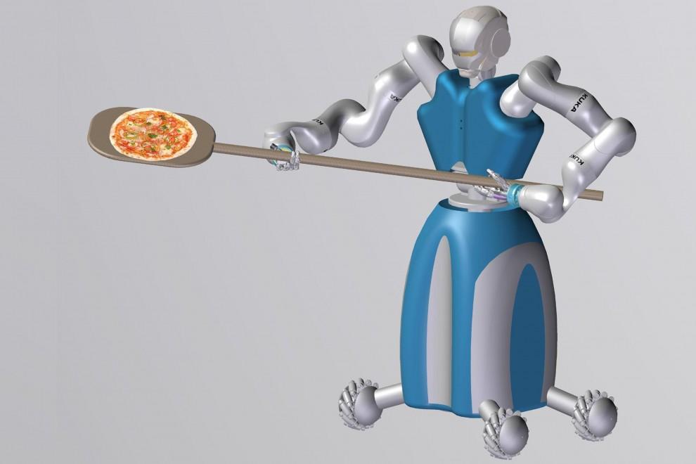 A pizza Plebiscito arriva RoDyMan, il primo robot pizzaiolo