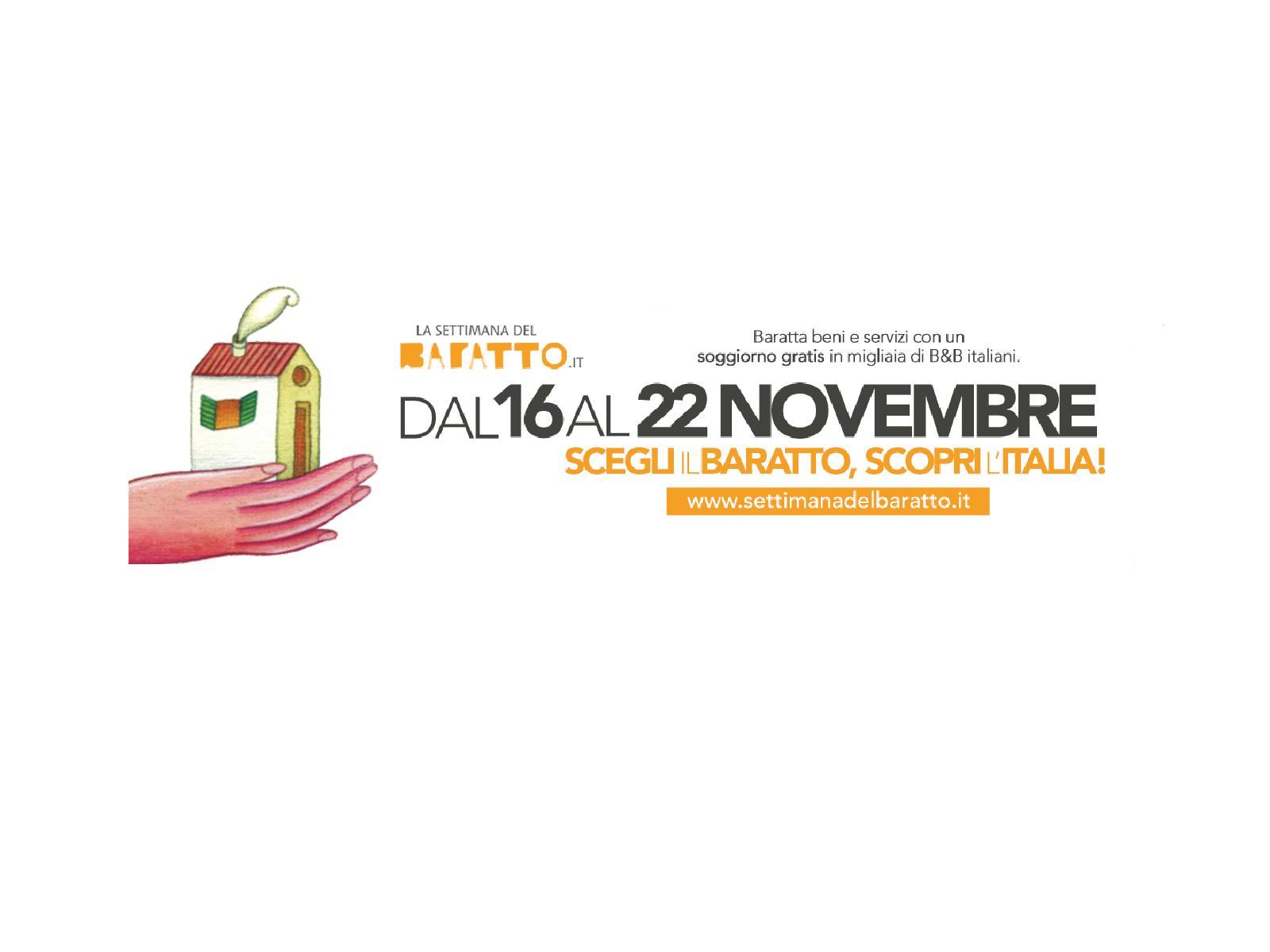 Settimana del Baratto, dal 16 al 22 novembre