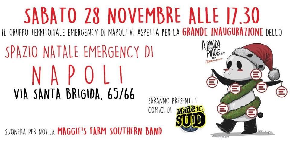 Emergency: arriva a Napoli lo Spazio dedicato al Natale