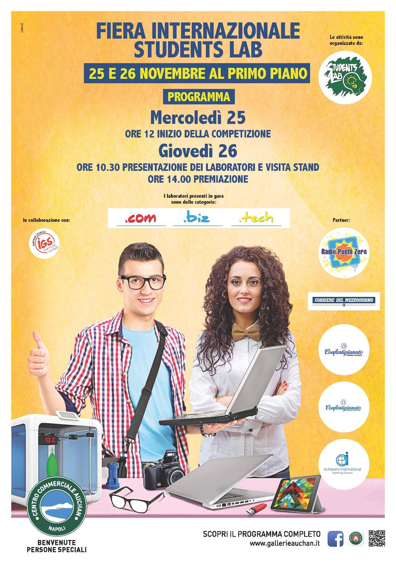 Al Centro Commerciale Auchan la Competizione internazionale Students Lab