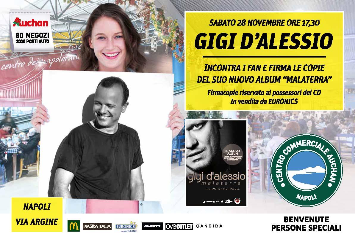 Centro Commerciale Auchan: Gigi d'Alessio presenta