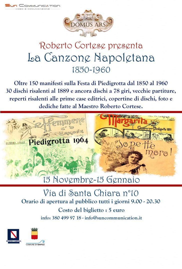 La Canzone Napoletana 1850-1960: il 13 novembre la conferenza stampa presso la Domus Ars