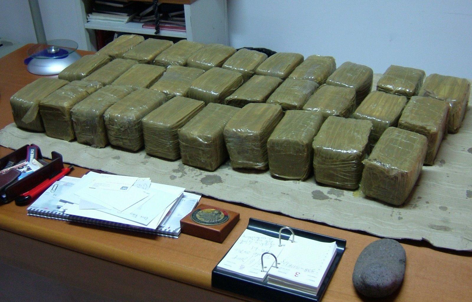 Maxi sequestro di droga: sequestrati 115 chili di marijuana diretti a Napoli