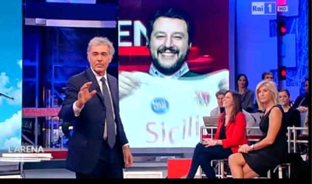 Salvini e Giletti: Napoli indecorosa