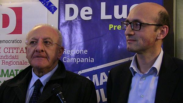 Mario Casillo con De Luca