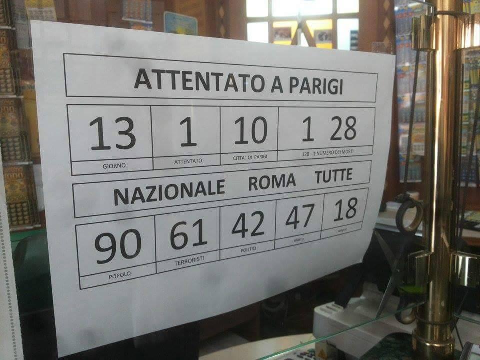 Strage Parigi, Napoli dà i numeri... al lotto
