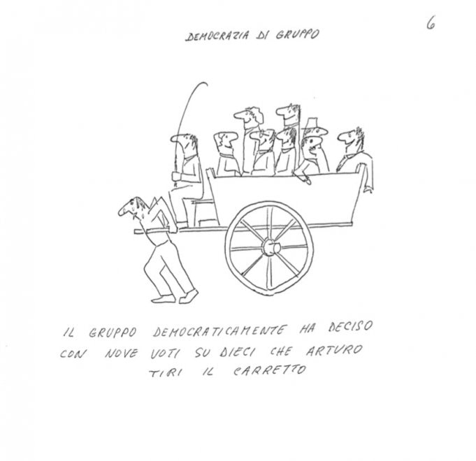 Luciano De Crescenzo, una mostra al Nilo Museum Shop con le sue vignette inedite