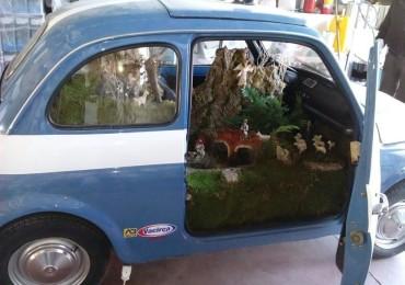 Fiat 500 con presepe: l'auto della Polizia stradale sarà in Piazza Trieste e Trento
