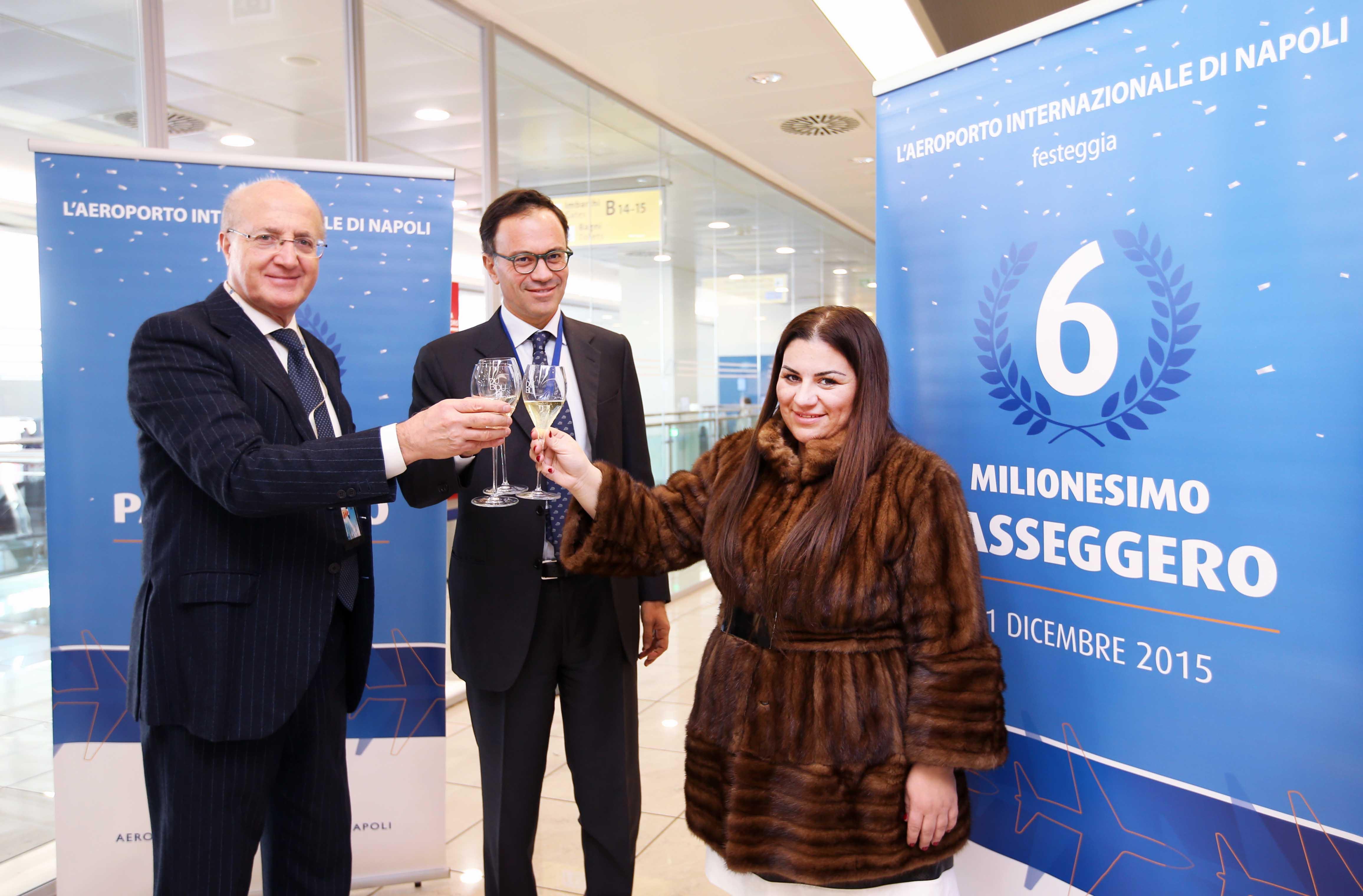 L'aeroporto di Napoli Capodichino festeggia il 6milionesimo passeggero
