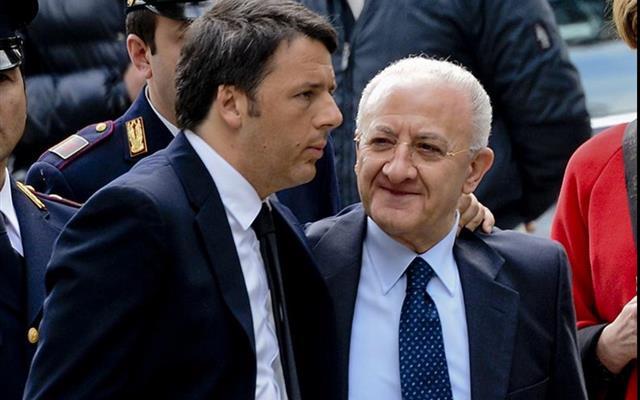 """De Luca: """"Condivido le dichiarazioni di Renzi sul Sud"""""""