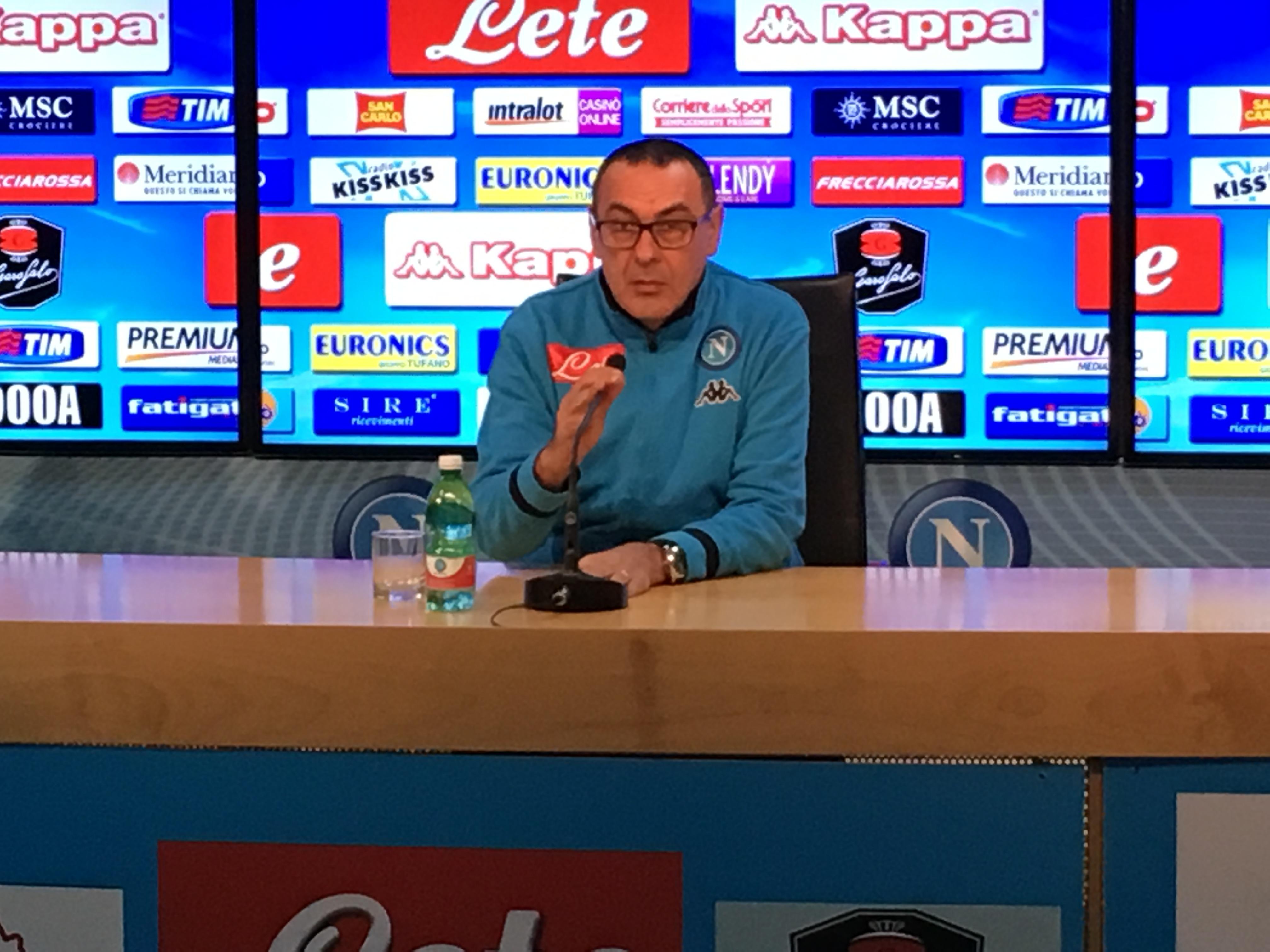 """Sarri: """"La Juventus ha già rotto gli equilibri, noi a lavoro! Benitez? Dispiace perché..."""""""