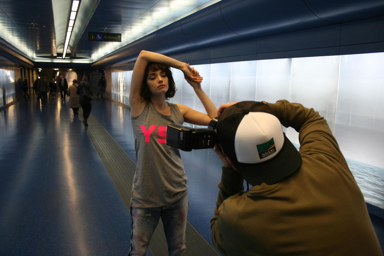 Flash mob della moda per valorizzare la metro di Napoli