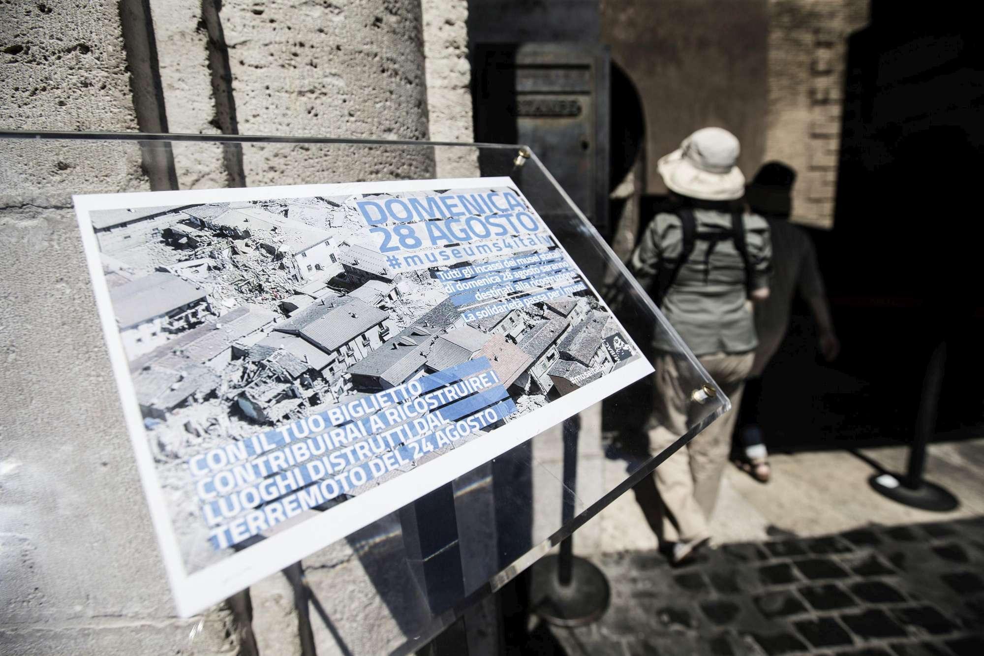 """""""Museums4Italy"""": in tanti nei musei per aiutare il Centro Italia"""
