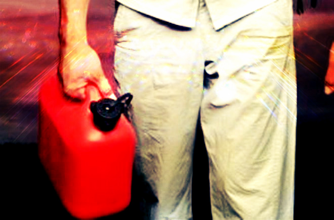 cosparso di benzina