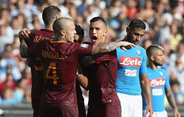 Napoli Roma 1-3, Salah e Dzeko espugnano il San Paolo
