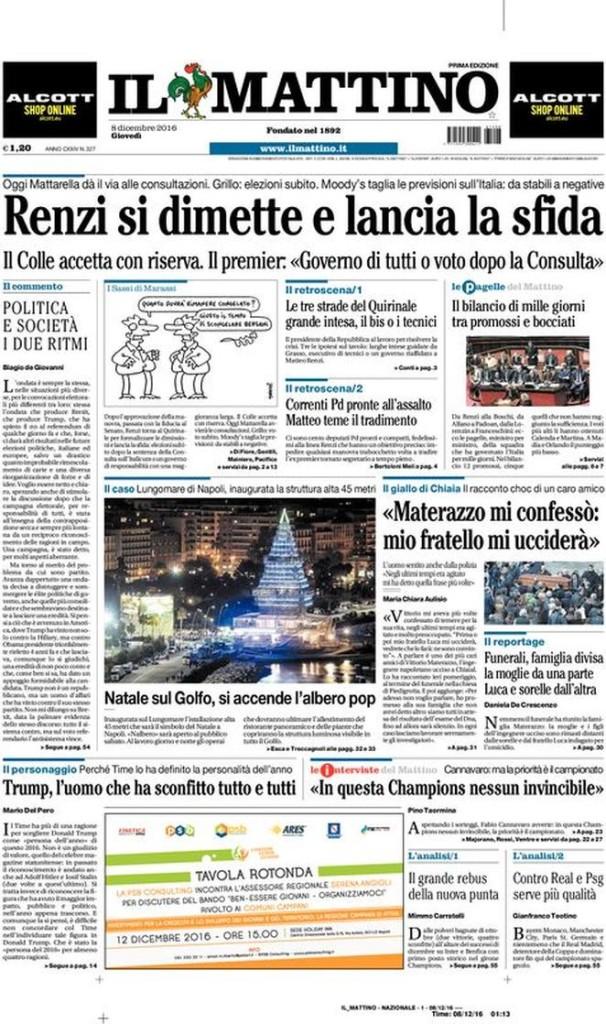 Rassegna stampa, le prime pagine dei quotidiani nazionali