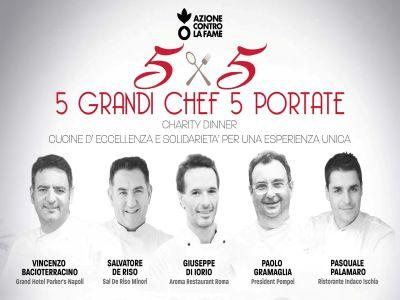 L'Organizzazione Azione contro la Fame porta a Napoli '5 chef per 5 portate'