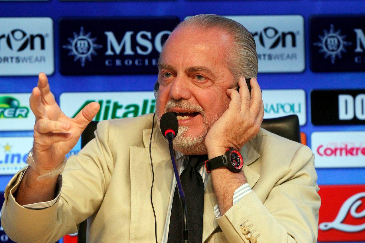"""De Laurentiis: """"Non vendo il Napoli ai cinesi. Tifosi esigenti? Fanno bene"""""""