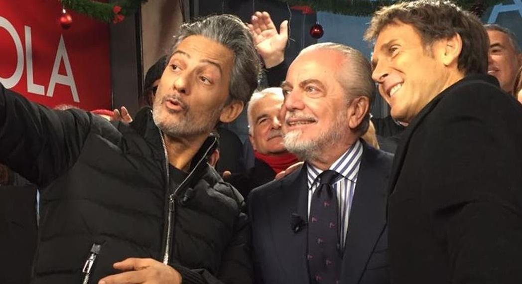 """De Laurentiis da Fiorello: """"Pavoletti al Napoli? Assolutamente... forse!"""""""