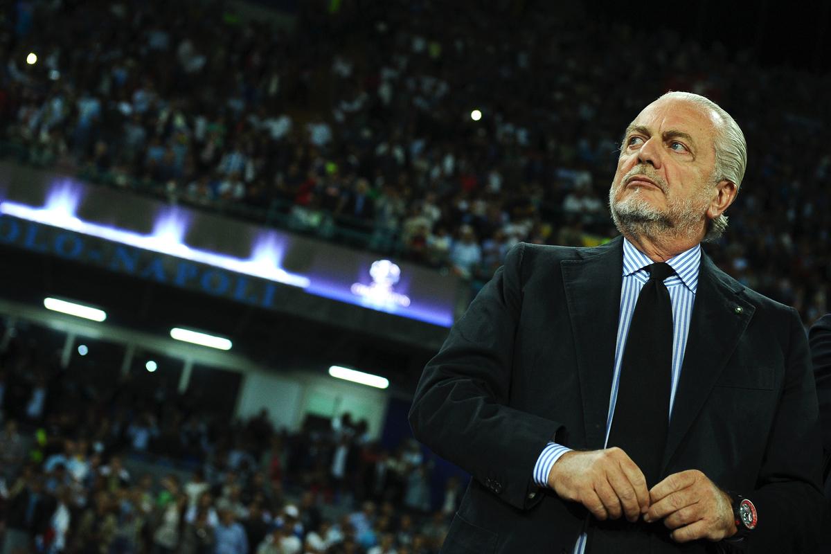 """De Laurentiis: """"E' fatta per Pavoletti. Col Real la partita delle Partite. Non vendo il Napoli"""""""
