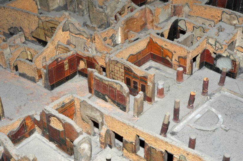 Il plastico ottocentesco di Pompei rinasce grazie alla tecnologia