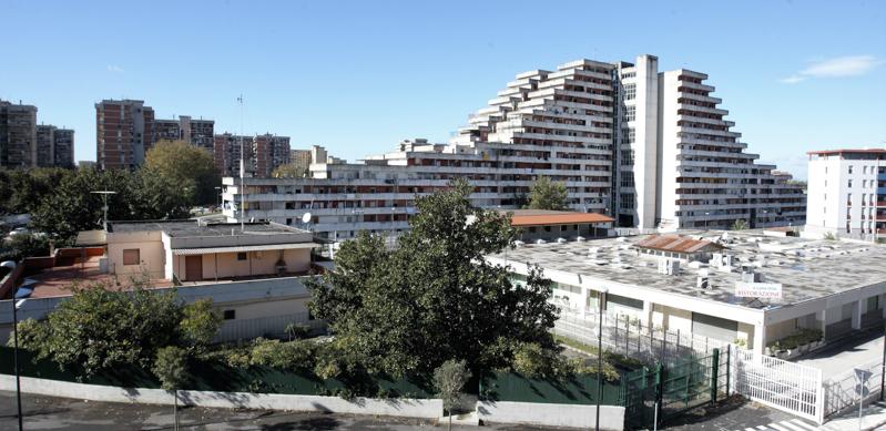 Protesta per il diritto alla casa nel Rione Scampia a Napoli