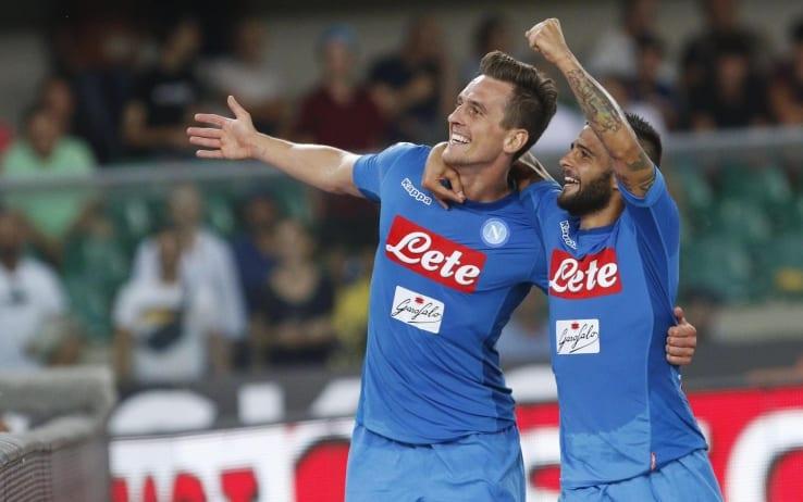 Napoli vince 2-1: Milik e Callejon mandano il Crotone in Serie B